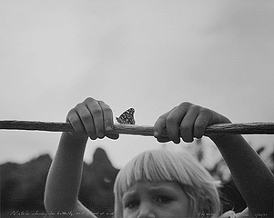 Mark Klett: Natalie Showing Her Butterfly, and Afraid it Will Fly Away, Eagletails, 1997