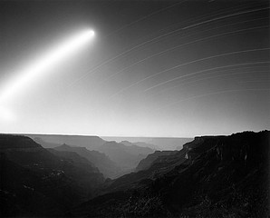 Mark Klett: Moonrise above the Powell Plateau, Grand Canyon 7/4/04