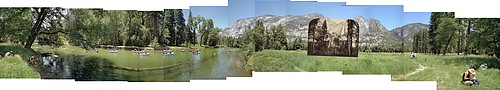 Mark Klett: Yosemite Falls and the Merced River, 2003