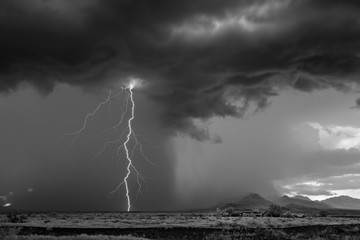 Mitch Dobrowner: Lightning Storm and Homestead, 2017