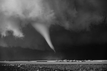 Mitch Dobrowner: White Tornado Above Farm, 2016