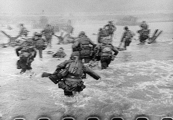 Robert Capa: D-Day Landing, Omaha Beach, Normandy, 1944