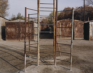Sasha Rudensky: X and Playground, Buchara, Uzbekistan, 2004