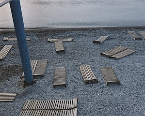 Sasha Rudensky: Beach Chairs, Gurzuf, Ukraine, 2004