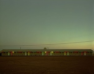 Steve Fitch: Siesta Motel, Highway 66, Moriarty, New Mexico, March 29,1981