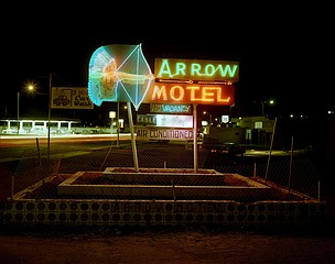 Steve Fitch: Arrow Motel, Highway 85, Espanola, New Mexico, March 23, 1982