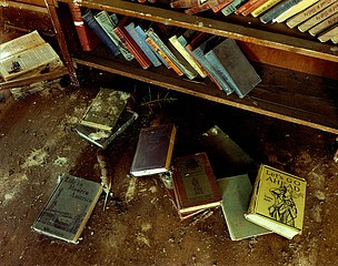 Steve Fitch: The floor of a school in McAlister, eastern New Mexico, January 6, 1994