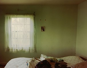 Steve Fitch: Bedroom in a house near Scranton, North Dakota, June 9, 2000