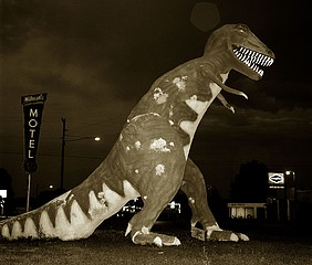 Steve Fitch: Dinosaur, Highway 40, Vernal, Utah, 1974?
