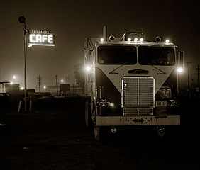 Steve Fitch: Truckstop, Highway 58, Bakersfield, California, 1972