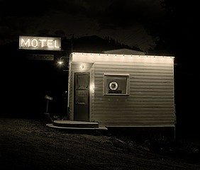 Steve Fitch: Motel, Highway 85, Deadwood, South Dakota, 1972