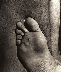 Walter Chappell: Nude Foot, 1965
