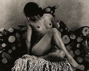 Walter Chappell: Nude, Woodpile, 1967