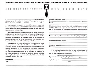 Clarence H. White School - Admission Application