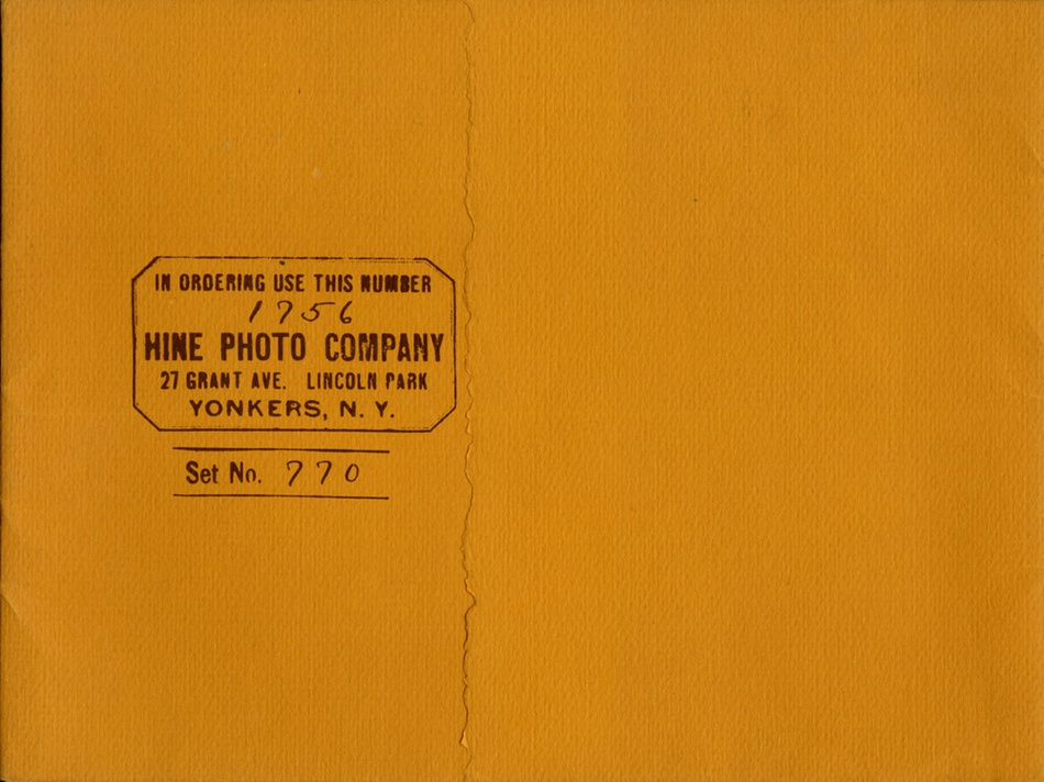 Lewis Hine: In Ordering Use This Number 1756 Hine Photo Company