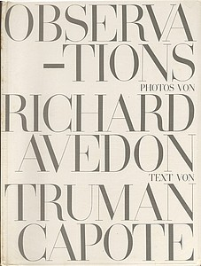 Richard Avedon & Truman Capote: Observations