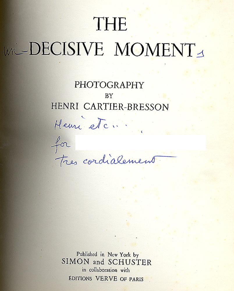 Henri Cartier-Bresson: The Decisive Moment (INSCRIBED)
