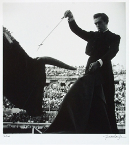 Lucien Clergue:  Pedrès at Nimes, 1955 (print from Toros Muertos)