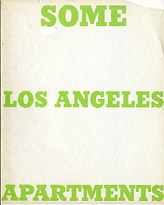 Ed Ruscha: Some Los Angeles Apartments.