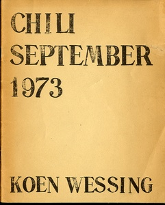 Koen Wessing: Chili, September 1973 (RARE SIGNED COPY!!)