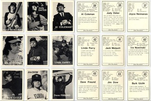 Mike Mandel: Untitled (Baseball-Photographer Trading Cards), Complete Set of 135!
