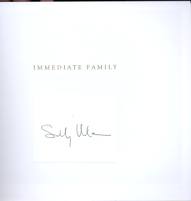 Sally Mann: Immediate Family (SIGNED!)