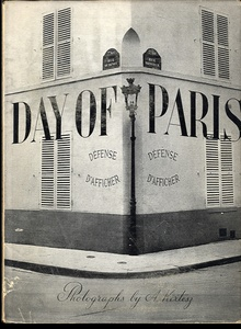 André Kertész: Day of Paris (in Scarce Dust Jacket! )