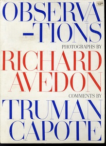 Richard Avedon: Observations (SIGNED!)