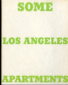 Ed Ruscha: Some Los Angeles Apartments (First Printing!!)