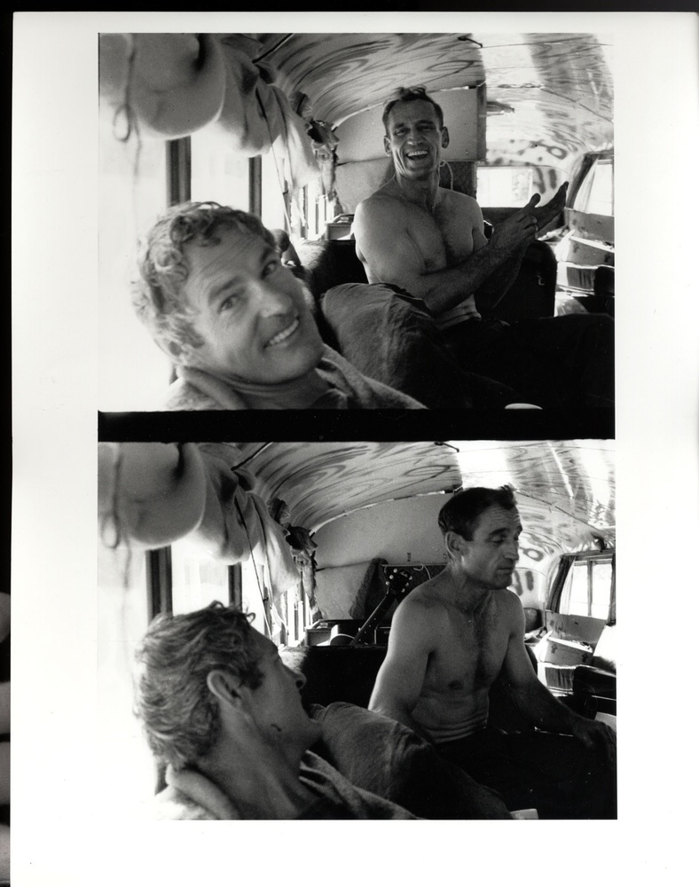Allen Ginsberg: 'Timothy Leary, Neal Cassady--with 'Merry Pranksters' on the 'Further' Bus', 1964