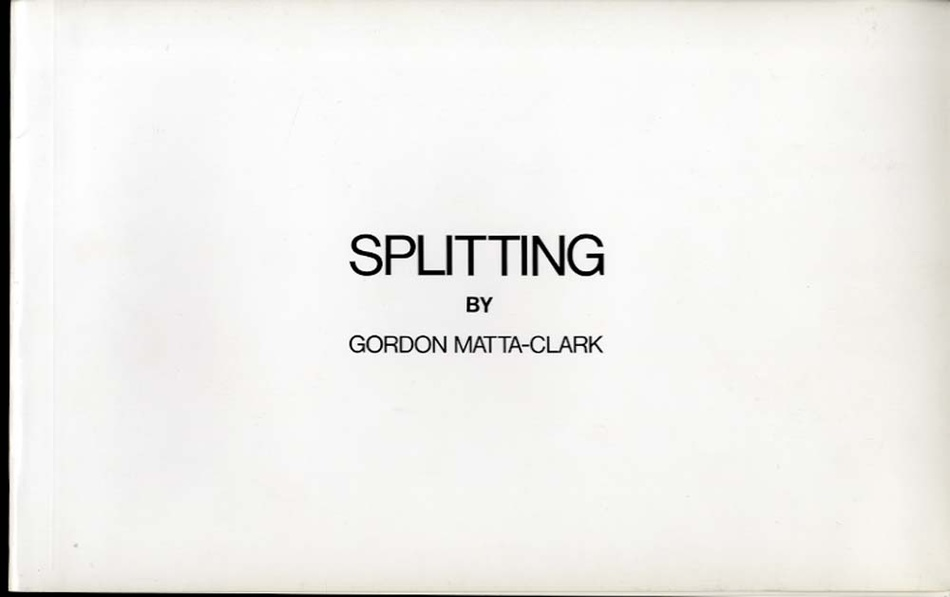 Gordon Matta-Clark: Splitting. 322 Humphrey Street as it was left abandoned