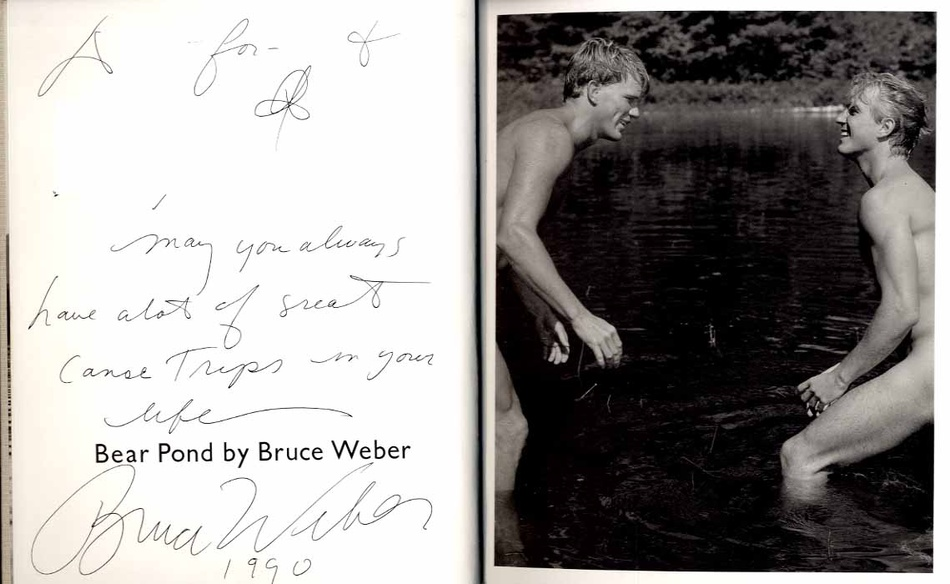 Bruce Weber: Bear Pond (INSCRIBED in Year of Publication!)