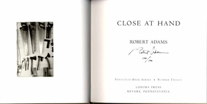 Robert Adams: Close at Hand (Limited Edition, 1/100) + Eden