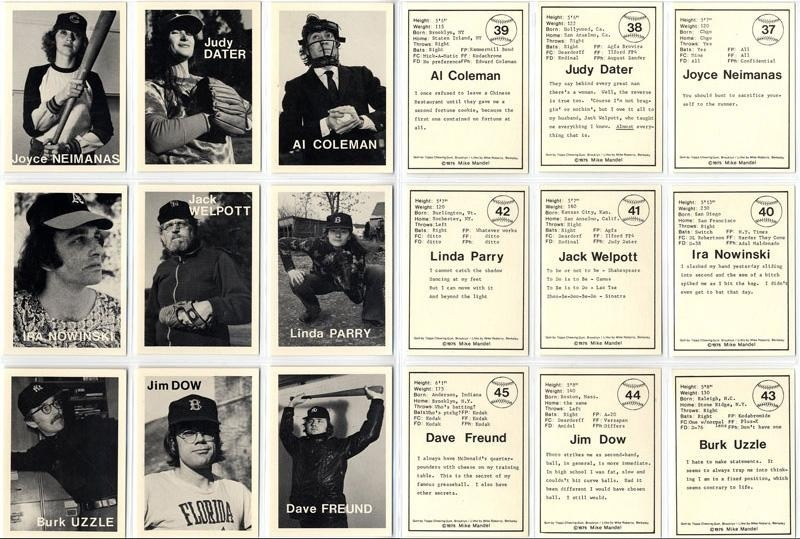 Mike Mandel: Untitled (Baseball-Photographer Trading Cards), Complete Set of 135--Pristine!