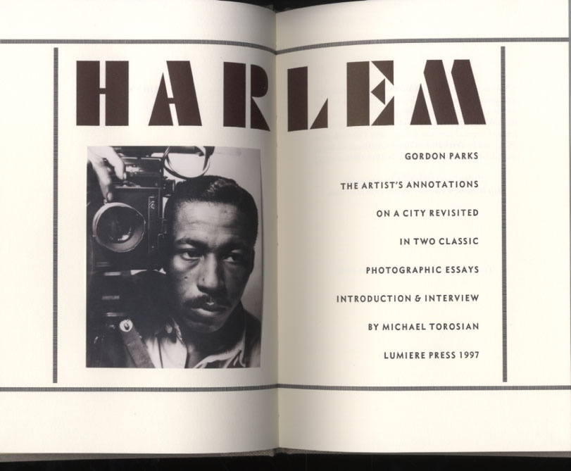 Gordon Parks: Harlem (Lumiere Press, SIGNED, Limited Edition 1/200)