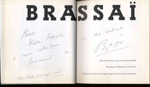 Brassaï (1968 Museum of Modern Art Catalogue)--INSCRIBED