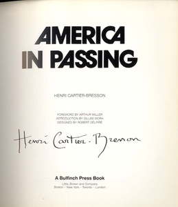 Henri Cartier-Bresson: America in Passing (SIGNED)