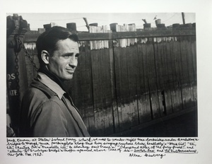 Allen Ginsberg: Jack Kerouac ('Staten Island Ferry'), 1953--with Ginsberg's Handwritten Caption