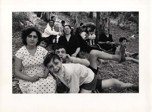 William Klein: Picnic, Rome, 1956 (From 'Rome')