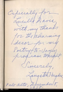 Roy DeCarava & Langston Hughes: The Sweet Flypaper of Life (INSCRIBED by Langston Hughes)