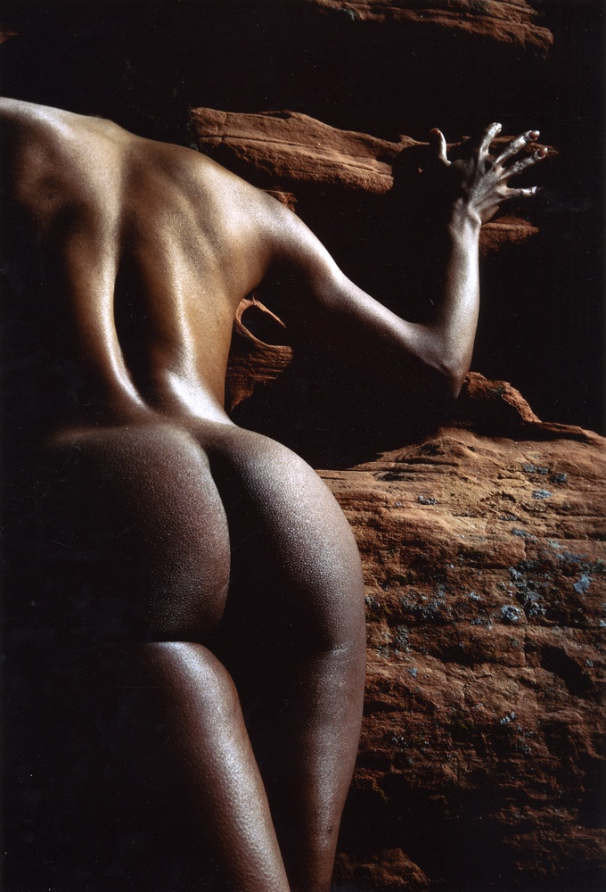 Lucien Clergue: Reine du Canyon Rouge, Las Vegas, 1983 (Color Print)