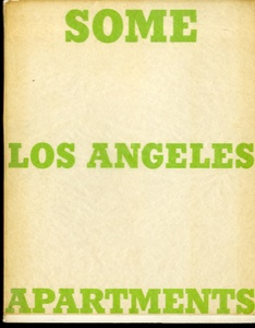 Ed Ruscha: Some Los Angeles Apartments (First Printing--INSCRIBED Association Copy!)