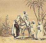 © Abd-el-Kader a cheval (Louis-Jean Delton,1865)