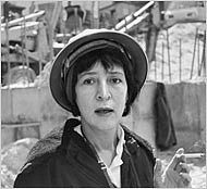 Helen Levitt in 1963<br>courtesy of Powerhouse Books