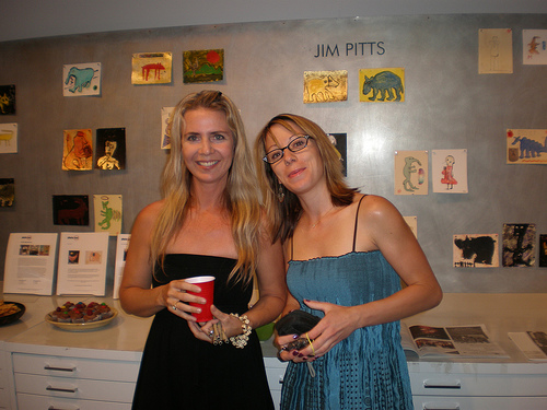 Julie Blackmon and Heather Prichard, from left to right, in photo-eye Gallery 2008