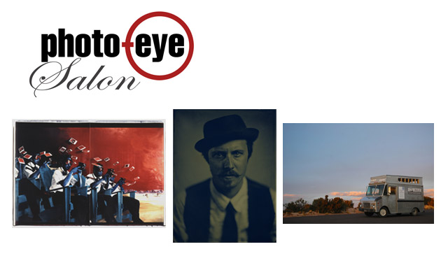Images shown from left to right: Patrick Nagatani, Dave Hyams and image of Axle Contemporary