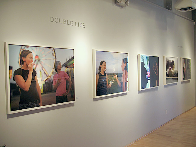 © Installation view of Kelli Connell's Double Life