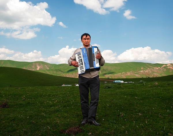 Accordion Player, High Pastures, Kyrgyzstan, 2012 -- Frank Ward